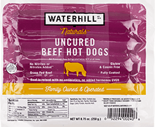 Naturals Uncured Beef Hot Dogs Packaging