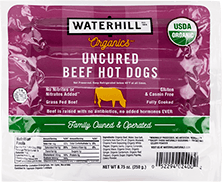 Organic Uncured Beef Hot Dogs Packaging