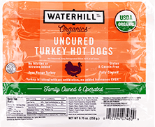 Organic Uncured Turkey Hot Dogs Packaging