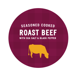 Seasoned Cooked Roast Beef with Sea Salt and Black Pepper