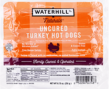Naturals Uncured Turkey Hot Dogs Packaging