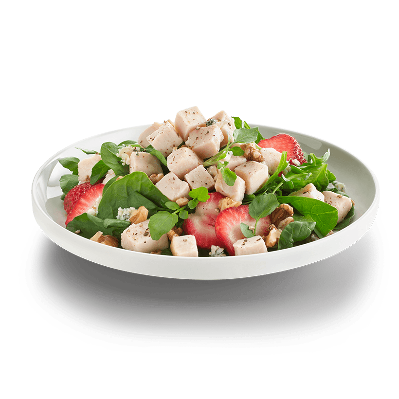Diced/Cubed Chicken on a salad