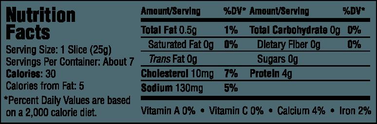 Organic Smoked Turkey Breast Nutrition Information